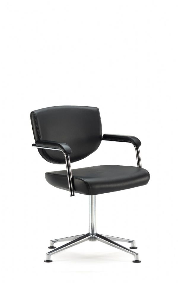 Pledge Key Meeting Room Chair With Fixed Arms And Fully Upholstered Low Back